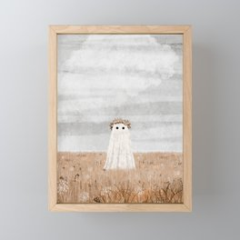There's a Ghost in the Meadow Framed Mini Art Print