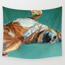Johnny the Dog Rests Wall Tapestry