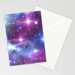 Fantasy Space Glow Stationery Cards