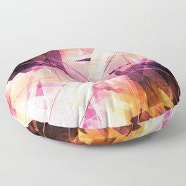 Sunbound - Geometric Abstract Art Floor Pillow