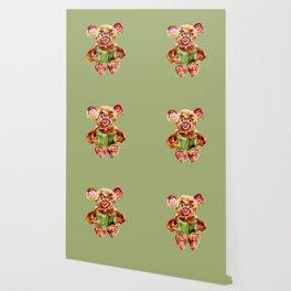 Painted Teddy Bear Wallpaper