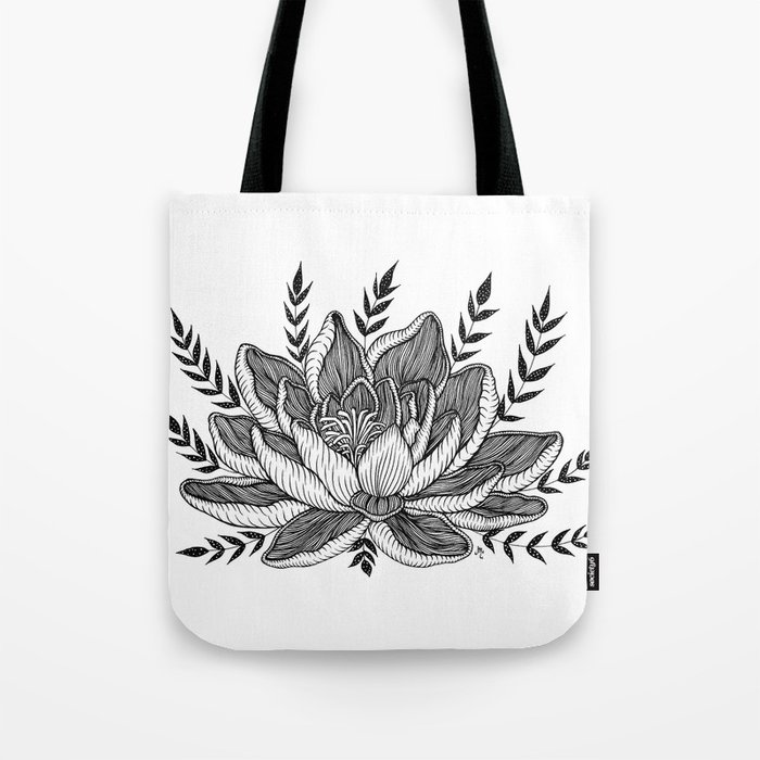 Lotus Flower Tote Bag