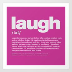 definition LLL - Laugh 9 Art Print