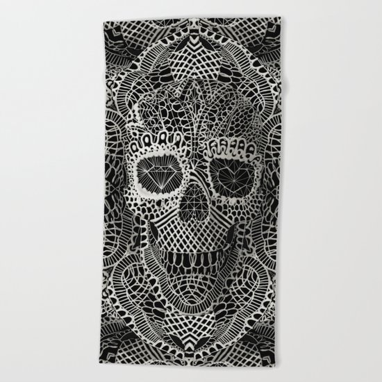 Lace Skull Beach Towel