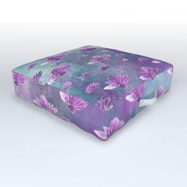 Painted Lotus Pond Outdoor Floor Cushion