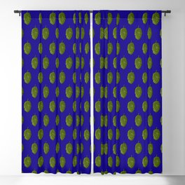 Hops Blue Pattern Blackout Curtain