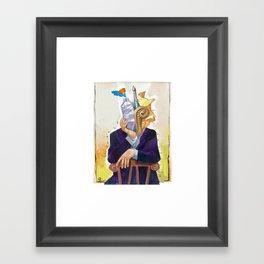 The Illustrator´s head Framed Art Print
