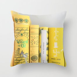 Shelfie in Yellow Throw Pillow