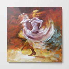 THE WHIRLING FLAMENCO DANCE Metal Print