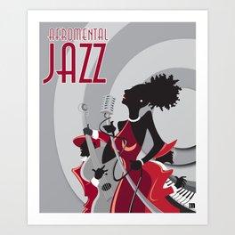 """AFROMENTAL JAZZ"" Art Print"
