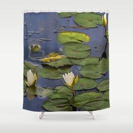 Hammond Pond - frog Shower Curtain