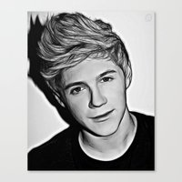 niall horan Canvas Prints featuring Niall Horan  by D77 The DigArtisT