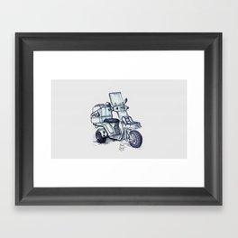Honda delivery scooter japan Framed Art Print