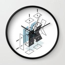 The Exploded Alphabet / K Wall Clock