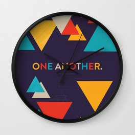 One Another Scripture Poster (Romans 15) Wall Clock