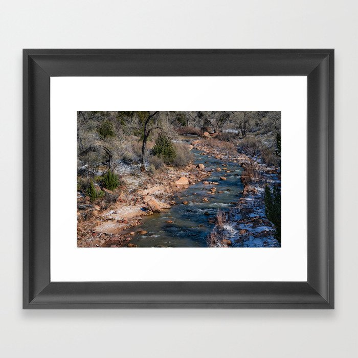 Virgin_River 4784 - Canyon_Junction, Zion_National_Park Framed Art Print