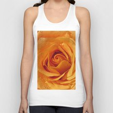 Gold Rose Bud- Orange Roses and flowers Unisex Tank Top