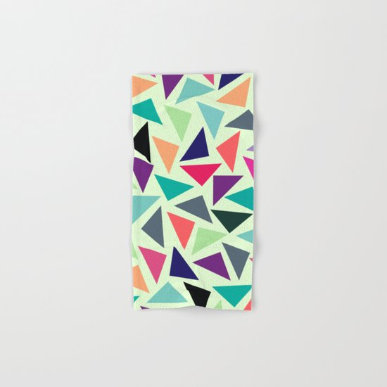 Geometric Pattern Hand & Bath Towel