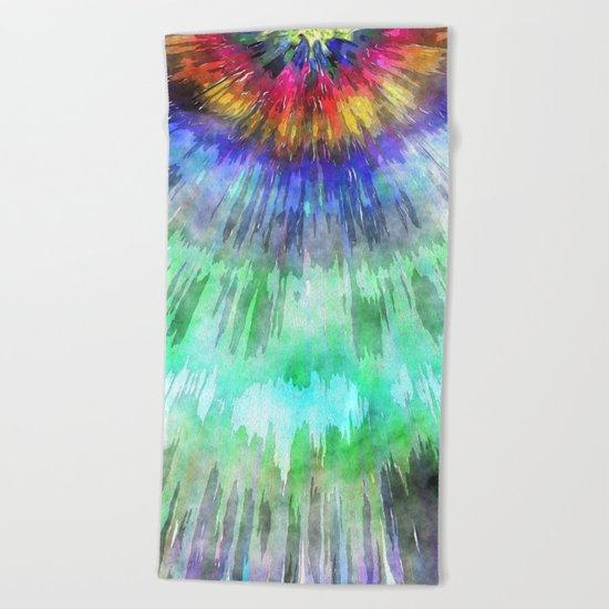 Textured Tie Dye Starburst Beach Towel