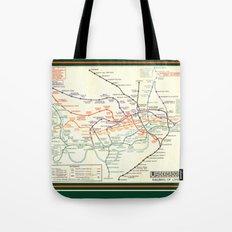 Vintage London Underground Map Tote Bag