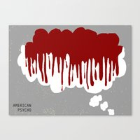 american psycho Canvas Prints featuring American Psycho by Courtney Vlaming
