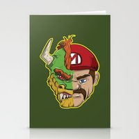 mario kart Stationery Cards featuring Mario Chimera by The Cracked Dispensary