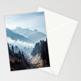 VALLEY - MOUNTAINS - TREES - RIVER - PHOTOGRAPHY - LANDSCAPE Stationery Cards