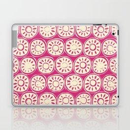 flower block ivory pink Laptop & iPad Skin