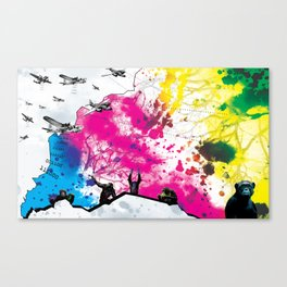 Dropping Science Canvas Print