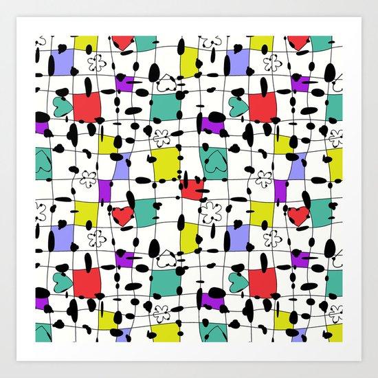 My happy squares Art Print