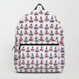 Theater. Circus. Dancing Girl Pattern Backpack