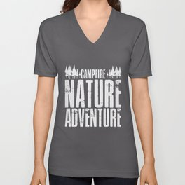 Scout Adventure | Camping Camp Campfire Scouting Unisex V-Neck