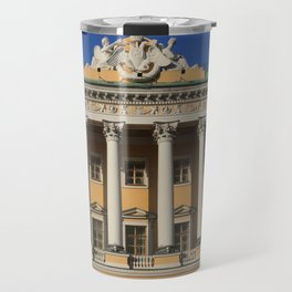 Saint-Petersburg Architecture. Building Facade with pillars. Travel Mug