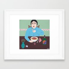 Spaghetti Dinner Framed Art Print