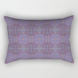 """Lavender lotus"" floral arabesque pattern Rectangular Pillow"