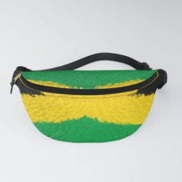 Extruded flag of Jamaica Fanny Pack