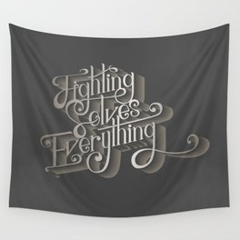 Fighting solves everything Wall Tapestry