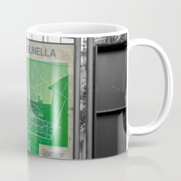 Green Map of Molinella Black and White Street Photography  Coffee Mug