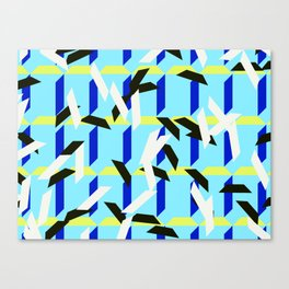 trapezoids grid pattern_skyblue Canvas Print