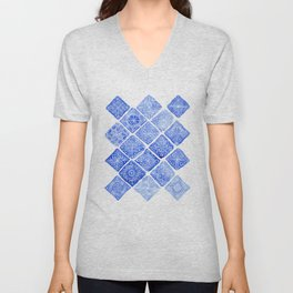Blue Tiles Unisex V-Neck
