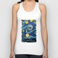 targaryen Tank Tops featuring Tardis Starry Night by DavinciArt