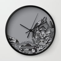 transformers Wall Clocks featuring Transformers: Megatron by Skullmuffins