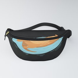 Otter Pool Party Float Summer I Funny print Gift Fanny Pack
