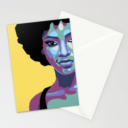 Flat bold portrait of a woman Stationery Cards
