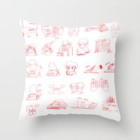 study Throw Pillows featuring Study... by David Nuh Omar