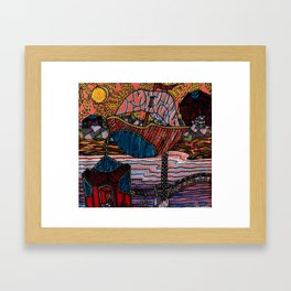 Oriental Houses  Framed Art Print