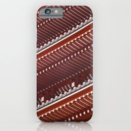 Pagoda roof pattern iPhone Case