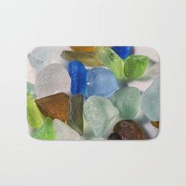 Colorful New England Beach Glass Bath Mat