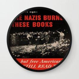 Vintage poster - Burned Books Wall Clock