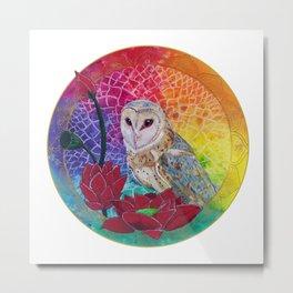 Lakshmi's Vahana ( Bird Whisperer Project Owl ) Metal Print
